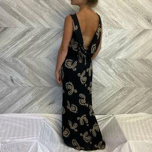 Vintage Joseph Ribkoff Black & Paisley Dress Size8